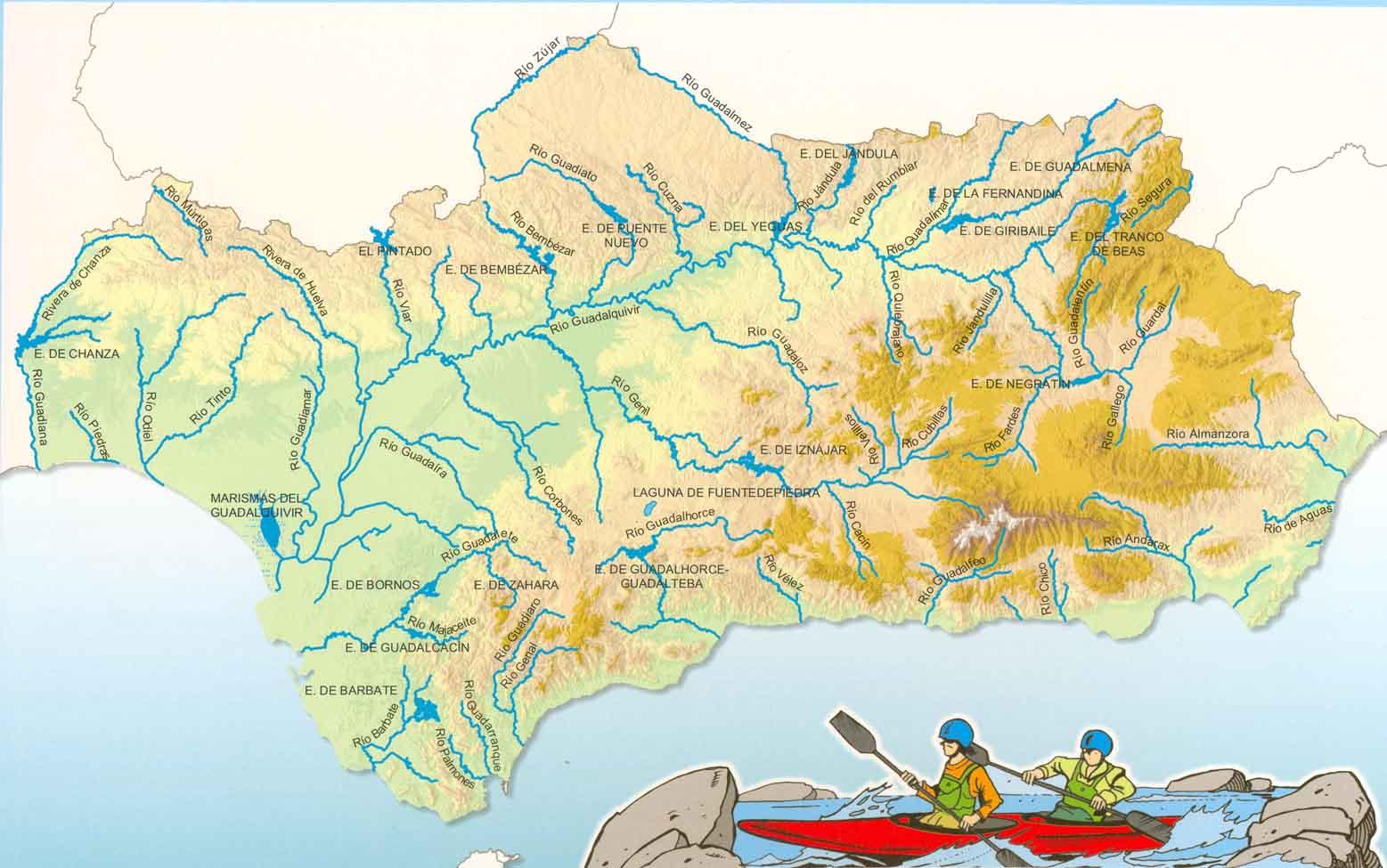 Andalucía: ríos y embalses
