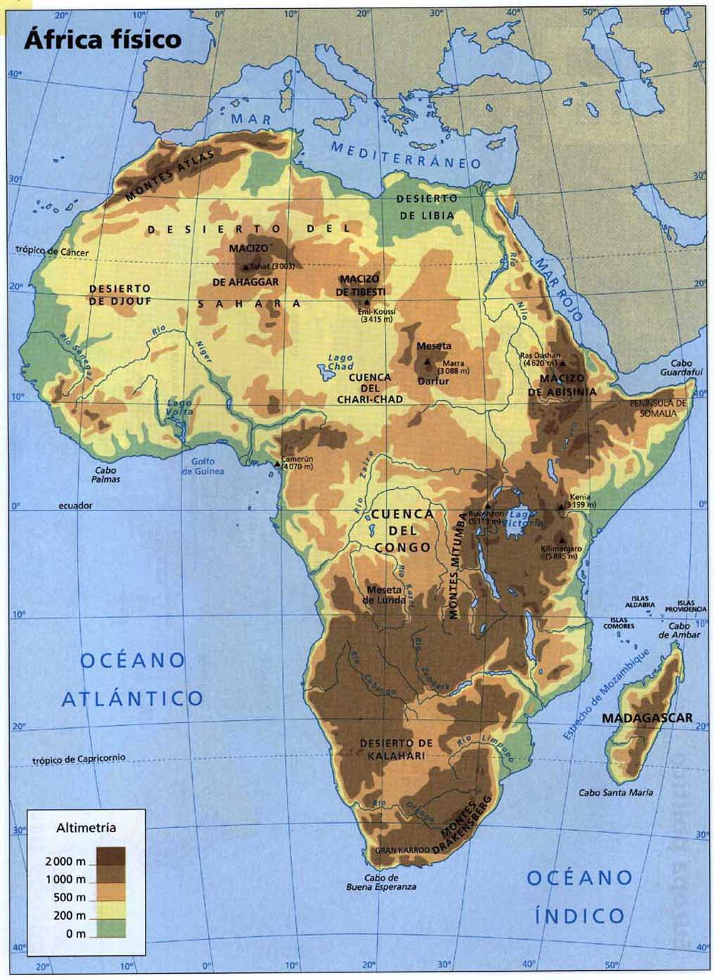 Cartina fisica africa picture