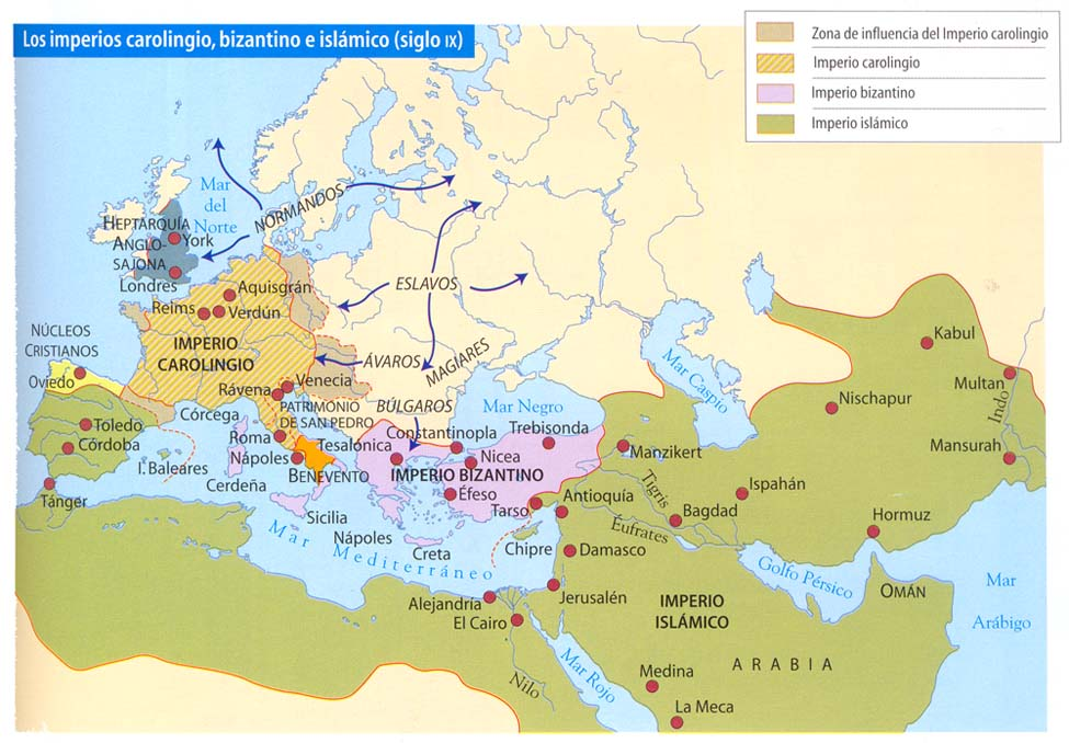 Mapa Europa Siglo Ix.Dep Geografia E Historia
